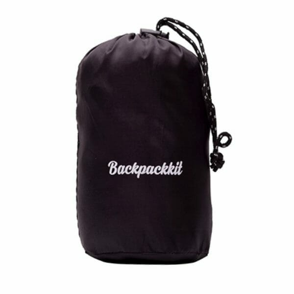 Backpackkit lakenzak voor backpackers ingepakt