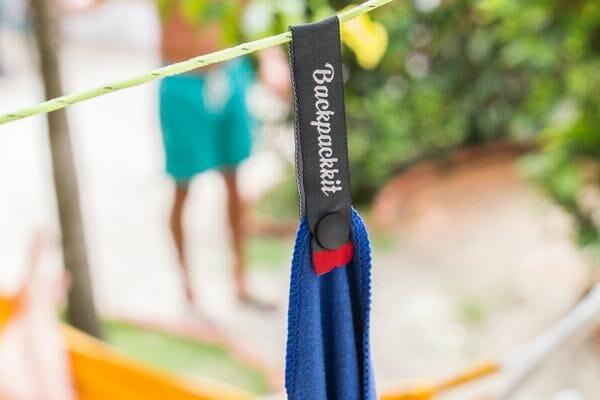 Backpackkit microvezel handdoek hangend