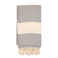 Backpackkit hamamdoek gevouwen beige