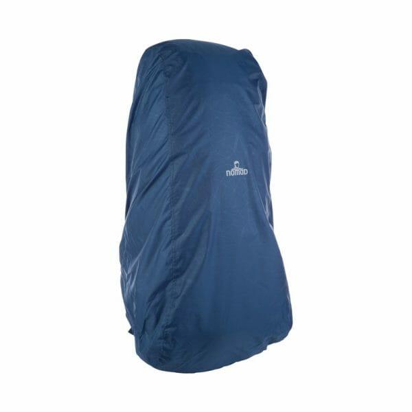 Backpackkit nomad batura 70 liter blauw regenhoes