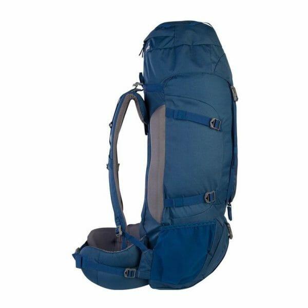 Backpackkit nomad batura 70 liter blauw zijkant