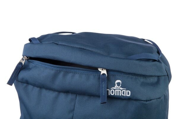Backpackkit nomad batura 70 liter blauw bovenkant