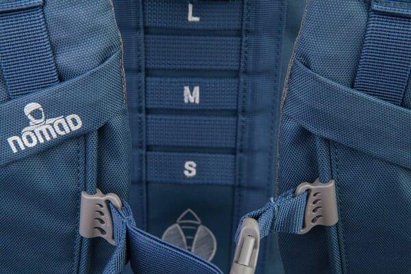 Backpackkit nomad batura 70 liter blauw verstellen
