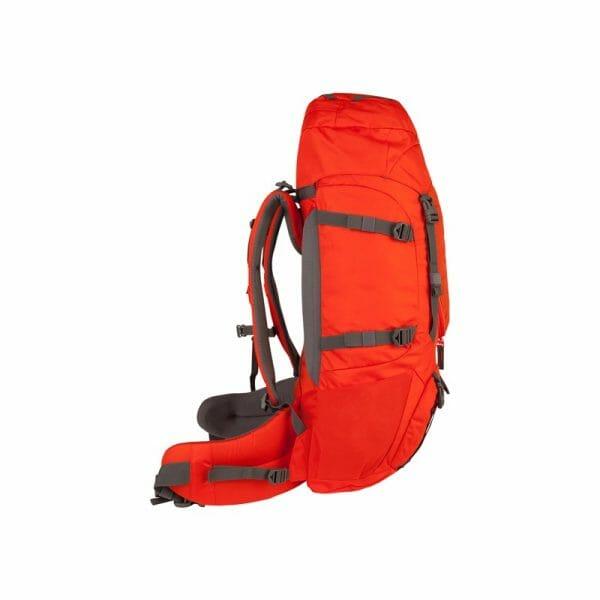 Backpackkit nomad batura 55 Liter oranje zijkant