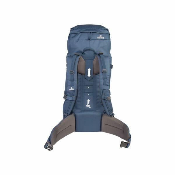 Backpackkit nomad batura WF 55 liter blauw achterkant