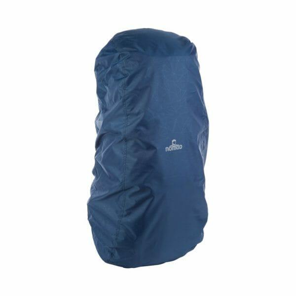 Backpackkit nomad batura WF 55 liter blauw regenhoes