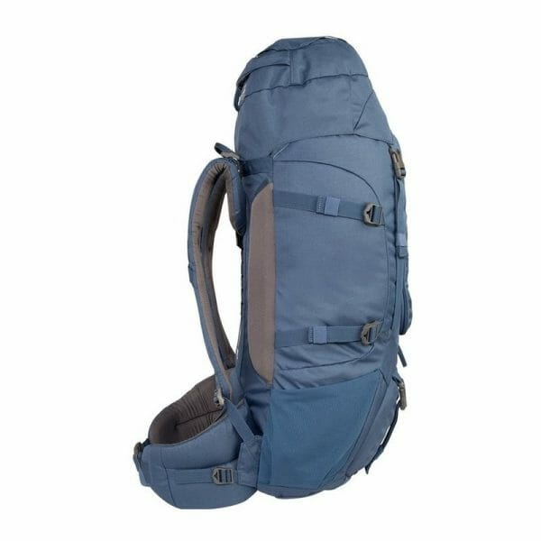 Backpackkit nomad batura WF 55 liter blauw zijkant