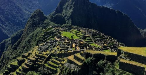 Photoshop foto stacking machu picchu